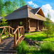 Wooden house in forest - PhotoDune Item for Sale