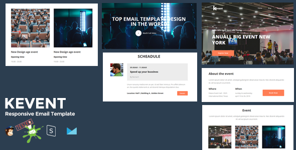 Kevent Best Responsive Event Email Template Online Stampready