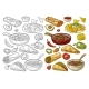 Mexican Traditional Food Set with Guacamole - GraphicRiver Item for Sale