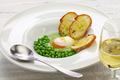 tear peas with poached egg, spanish basque cuisine - PhotoDune Item for Sale