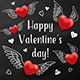 Flying Red Hearts on a Black Chalkboard - GraphicRiver Item for Sale