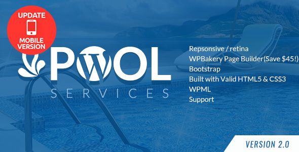 Pool Services WordPress Theme - Business Corporate