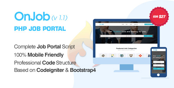 OnJob - PHP Job Portal Application - CodeCanyon Item for Sale