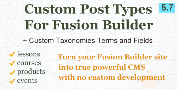 Custom Post Types and Taxonomies for Fusion Builder - CodeCanyon Item for Sale