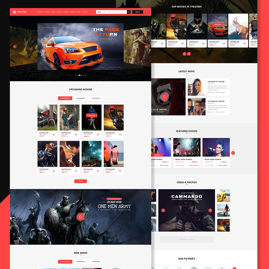 Movie Pro Film And Tv Show Html Template By Webstrot Themeforest