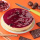 cheese cake with other ingredients isolated on strong colorful background - PhotoDune Item for Sale