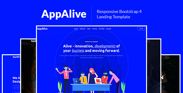 AppAlive – Responsive Bootstrap 4 Landing Template - Technology Site Templates