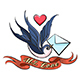 Swallow With Love Letter Tattoo - GraphicRiver Item for Sale