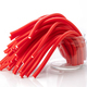 soft sticks tangle colored licorice on white background - PhotoDune Item for Sale