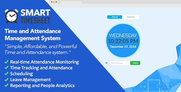 Smart Timesheet: Time and Attendance Management System - CodeCanyon Item for Sale