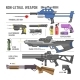 Gun Vector Military Non-Lethal Weapon or Army - GraphicRiver Item for Sale