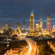 tianjin night scene, city road through the central business district, China - PhotoDune Item for Sale
