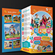 Kids Summer Camp Trifold + Business Card - GraphicRiver Item for Sale
