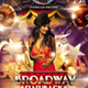 Broadway Theme Party Event Flyer - GraphicRiver Item for Sale