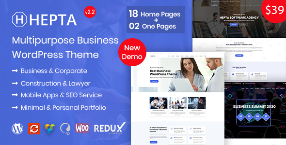 Hepta Business - Multipurpose  Business WordPress Theme