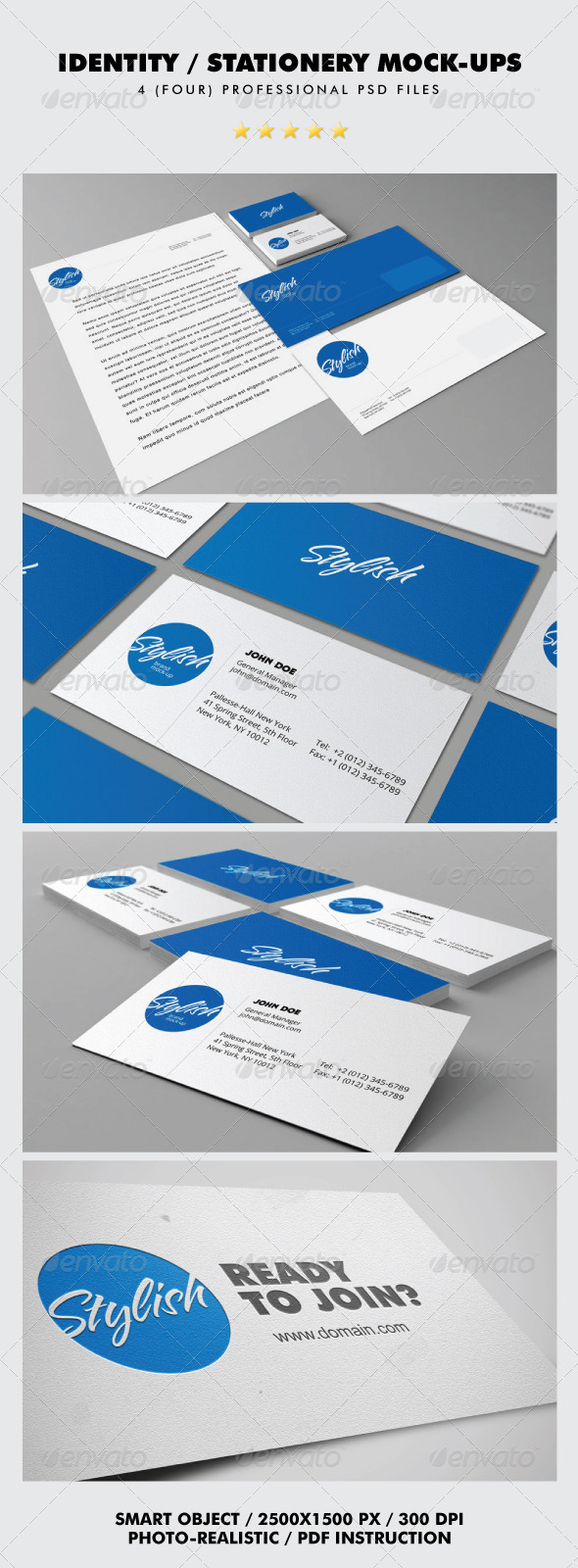 Identity / Stationery Mock-ups - Stationery Print