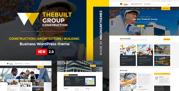 TheBuilt - Construction, Architecture & Building Business WordPress theme - Business Corporate