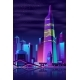 Vector Glowing Tower on River - GraphicRiver Item for Sale