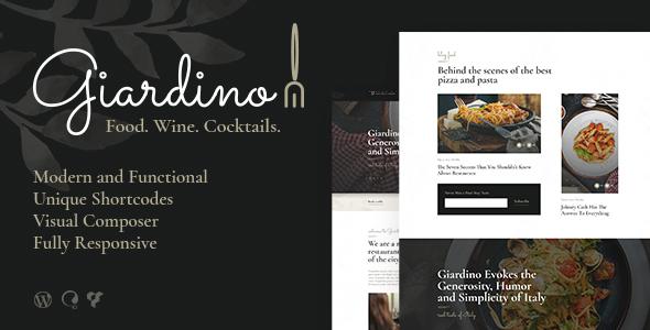 Giardino | An Italian Restaurant & Cafe WordPress Theme - Restaurants & Cafes Entertainment