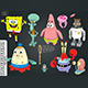 10 Characters of Cartoon Sponge Bob - 3DOcean Item for Sale