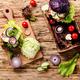 Veggie burgers with vegetables - PhotoDune Item for Sale