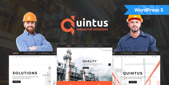 Quintus - Industry / Factory / Engineering WordPress Theme - Business Corporate
