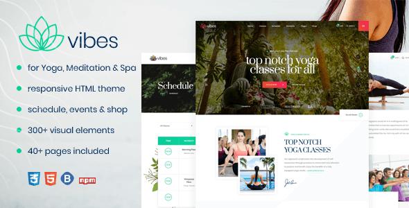 Vibes - Responsive Yoga & Spa Template