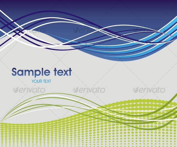Dynamic wave background in blue and green. - Backgrounds Decorative