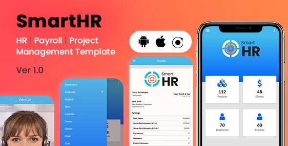 Smarthr Hr Management System Ionic Mobile App Template