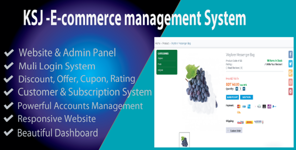 KSJ E-commerce Management System - CodeCanyon Item for Sale