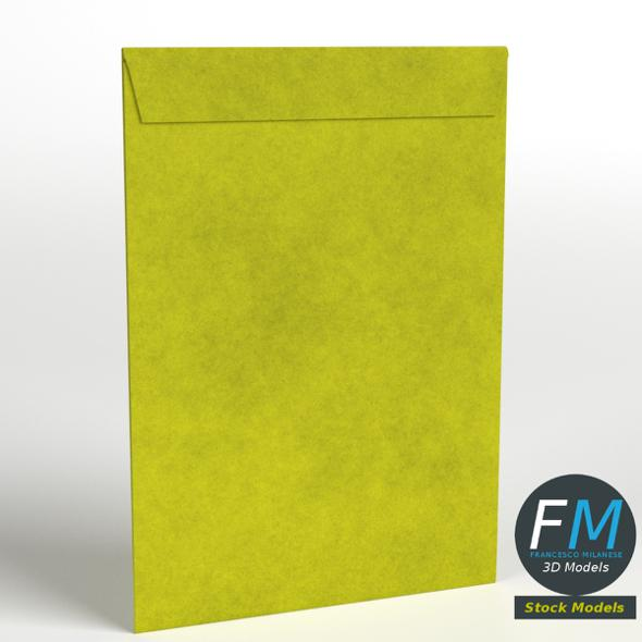 Large yellow envelope - 3DOcean Item for Sale
