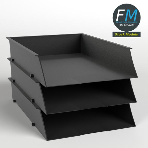Document trays - 3DOcean Item for Sale