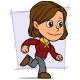 Cartoon Running Brunette Girl Character - GraphicRiver Item for Sale