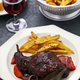 rabbit cooked in red wine with french fries - PhotoDune Item for Sale