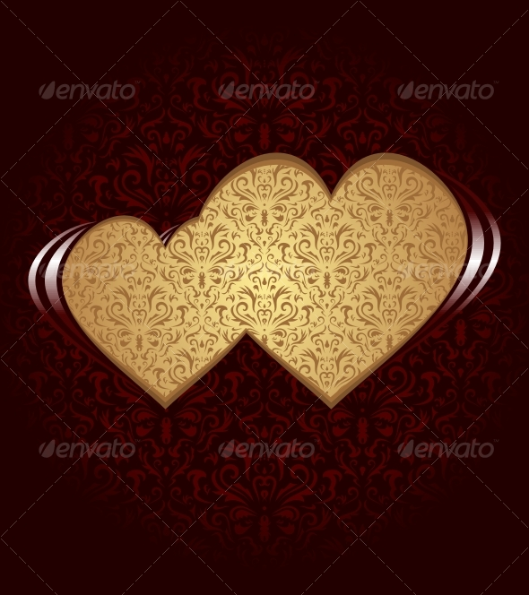 Two hearts - Backgrounds Decorative