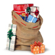 Christmas sack full of presents isolated - PhotoDune Item for Sale