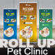 Pet Clinic Roll Up Banner - GraphicRiver Item for Sale