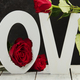 Valentine's Day concept. Love wooden letters on rustic background - PhotoDune Item for Sale