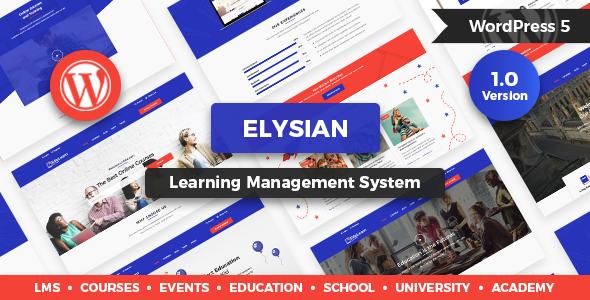 Elysian - WordPress School Theme + LMS by modeltheme