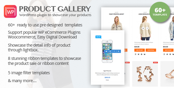 WP Product Gallery - Responsive Products Showcase Listing for WordPress - CodeCanyon Item for Sale