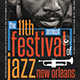Jazz Festival Flyer Template V10 - GraphicRiver Item for Sale