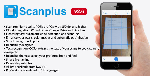 White Label Scanplus Pro Ios Pdf Document Scanner App