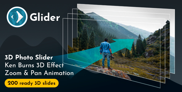 Glider 3D Photo Slider WordPress Plugin v1.7 - CodeCanyon Item for Sale