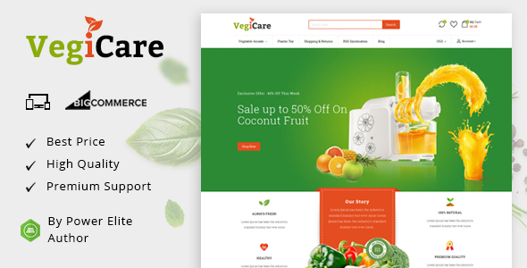VegiCare - Multipurpose Stencil BigCommerce Theme