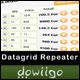 Datagrid Repeater - jQuery plugin - CodeCanyon Item for Sale