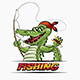 Fishing Crocodile - GraphicRiver Item for Sale