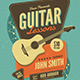Guitar Lessons Flyer - GraphicRiver Item for Sale