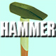 Hammer hitting Nail Wood and Rock