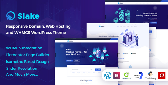 Slake - Isometric Web Hosting, Domain and WHMCS WordPress Theme - Hosting Technology