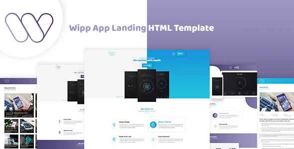 Wipp -  App Landing HTML Template